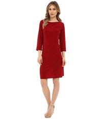 Rsvp Susan Shift Dress Burgundy Women's Dress