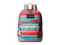 Jansport Digibreak Malt Tan Boho Stripe Backpack Bags Blue
