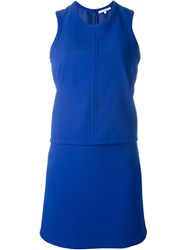 Carven Layered Dress Blue