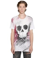 Faith Connexion Skull Graffiti Cotton Jersey T Shirt