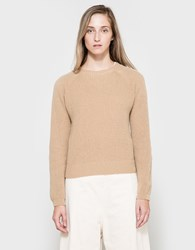 Margaret Howell Ribbed Crew Neck In Camel