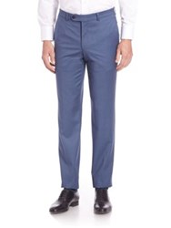 Saks Fifth Avenue Solid Wool Pants Blue