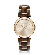 Michael Kors Delray Gold Tone And Tortoise Acetate Watch