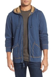 Jeremiah 'Rowan' Double Face Full Zip Hoodie Blue