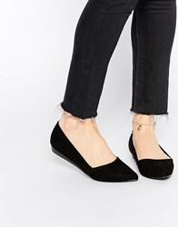 Oasis Pointed Slip On Shoes Black