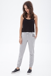 Forever 21 Live To Love Heathered Sweatpants