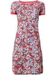 Walter Van Beirendonck Vintage 'Puk Puk' T Shirt Dress Red