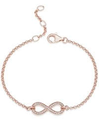 Thomas Sabo Pave Crystal Infinity Bracelet In 18K Rose Gold Plated Sterling Silver