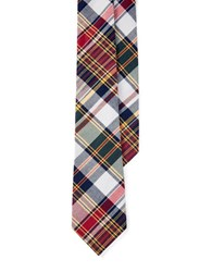 Lauren Ralph Lauren Plaid Cotton Tie Navy