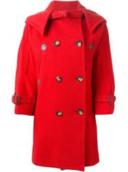 Tsumori Chisato Hooded Coat Red