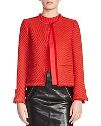 Maje Valou Tweed Jacket Red
