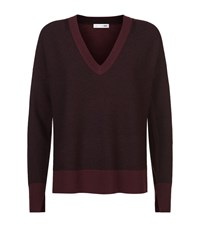 Rag And Bone Taylor V Neck Sweater Female Red