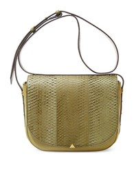 Brian Atwood Saylor Leather Crossbody Moss
