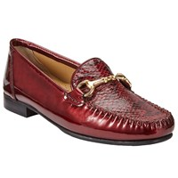 John Lewis Made In England Goole Trim Flat Moccasins Red