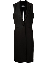 Nomia Long Sleeveless Blazer Black