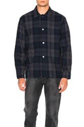 Our Legacy Box Shirt In Blue Checkered And Plaid Blue Checkered And Plaid