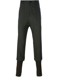 Isabel Benenato Pleated Tapered Trousers Brown