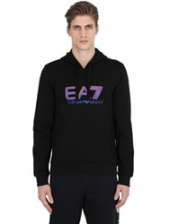 Emporio Armani Logo Printed Hooded Cotton Sweatshirt