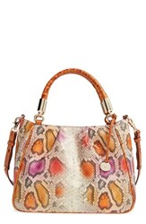 Brahmin 'Ruby' Snakeskin Embossed Leather Satchel