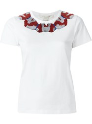 Marc Jacobs Embellished Neck T Shirt White