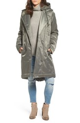 Cheap Monday Women's Profile Satin Parka Elephant Grey