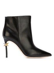 Dsquared2 Barbed Wire Stiletto Booties Black