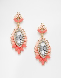 Love Rocks Statement Neon Earrings Pink