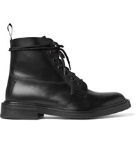 Sandro Leather Boots Black