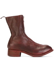 Guidi Zipped Boots Red
