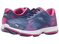 Ryka Devotion Plus 2 Jet Ink Blue Rose Violet Chrome Silver Women's Shoes