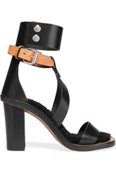Isabel Marant Jenyd Shearling Lined Leather Sandals Black