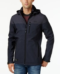 Point Zero Men's Soft Shell Fleece Lined Wind And Water Resistant Jacket Black