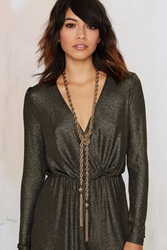 Nasty Gal Learn The Ropes Chain Lariat Necklace