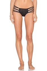 Pilyq Strappy Ibiza Teeny Bikini Bottom Black