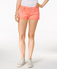 Hudson Jeans Hampton Colored Wash Shorts Luminous Orange
