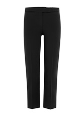 Alexander Mcqueen Cropped Pants With Wool Black