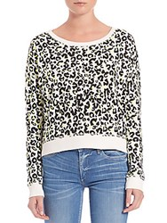 True Religion Cheetah Print Pullover Neon Snow