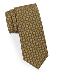 Brooks Brothers Patterned Silk Tie Yellow