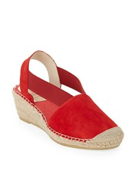 Vidorreta Luna Espadrille Wedge Slingbacks Red