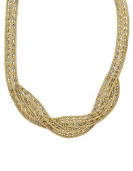 Lord And Taylor 14K Yellow Gold Bib Necklace