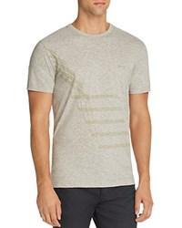 Hugo Boss Green Tee 5 Step Graphic Tee Grey Melange