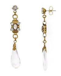 Sorrelli Crystal Drop Earrings Antique Gold