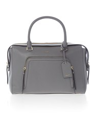 Dkny Chelsea Vintage Large Grey Pocket Satchel Bag Grey