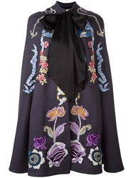 Temperley London Embroidered Cape Blue