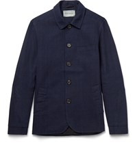 Oliver Spencer Portobello Cotton Canvas Jacket Blue