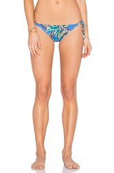 Shoshanna Tropical Palms String Bikini Bottom Blue