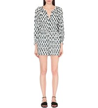 Maje Istre Woven Playsuit Print