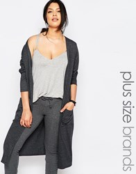 Pink Clove Lounge Oversized Slouchy Cardigan Gray