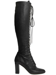 Philosophy Di Lorenzo Serafini 85Mm Lace Up Grained Leather Boots