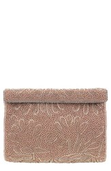 Nina 'Meadow' Beaded Frame Clutch Pink Rose Gold